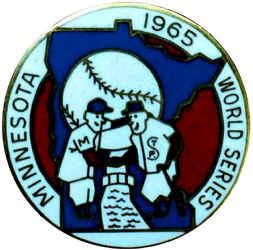 1965 Twins World Series press pin