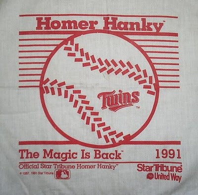 1991 Homer Hanky - The Home Hanky from the Twins second World Series win.