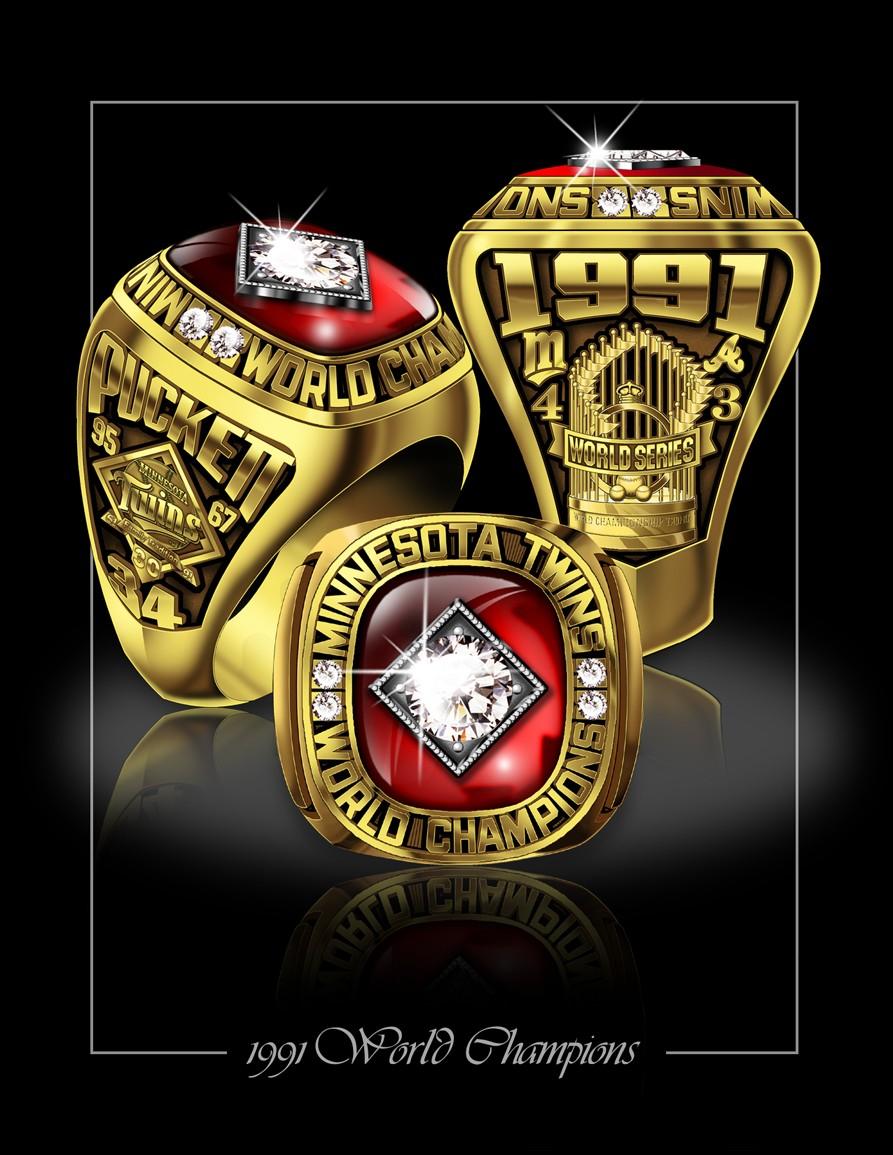 1991 Salesman samples of Twins World Series rings