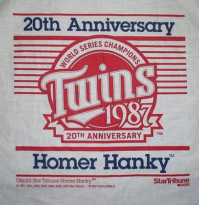 2007 Homer Hanky - 20th anniversary of 1987 championship & first Homer Hanky