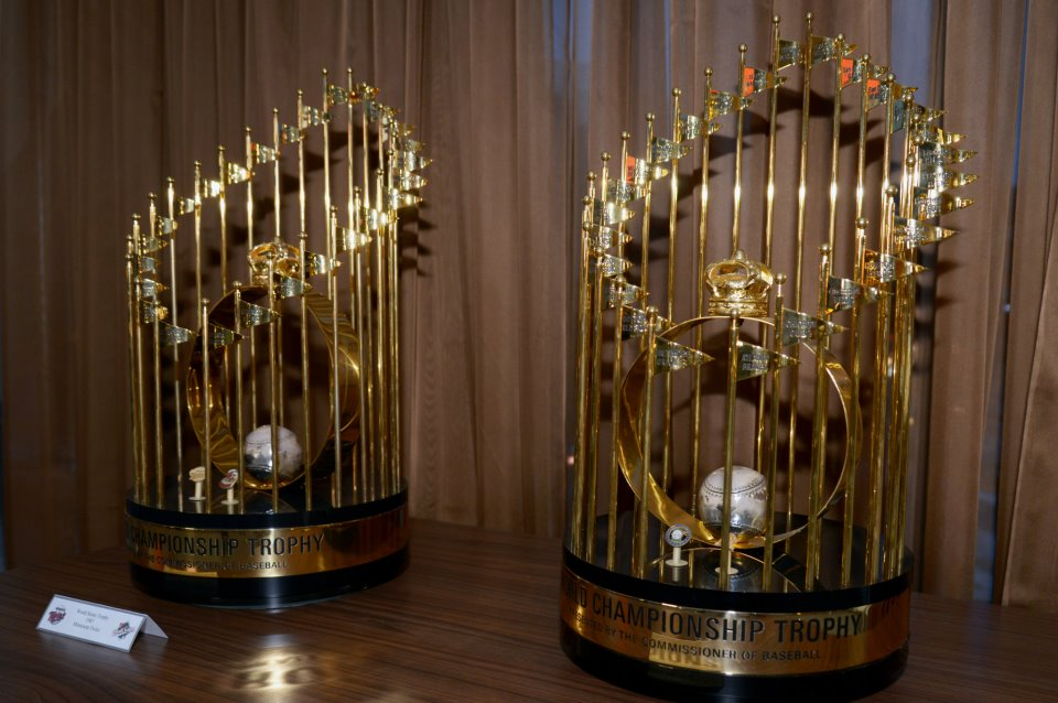 Minnesota Twins World Series Trophies for 1987 and 1991