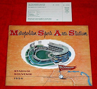 Met Stadium grand opening 1956, long before the Twins came into existence.