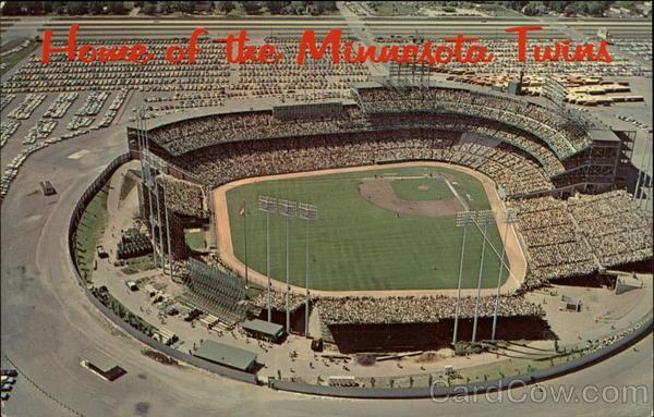 Aerial View, Metropolitan Stadium Bloomington - Courtesy Cardcow.com