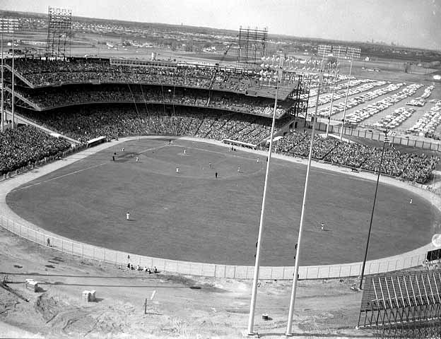 Dedication of stadium on April 24, 1956, long before the Twins moved to town and called Met stadium home