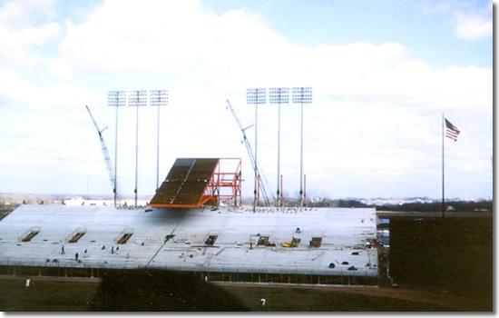 Met Stadium left field construction April 12, 1965