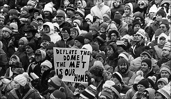 met stadium 1981 dome sign
