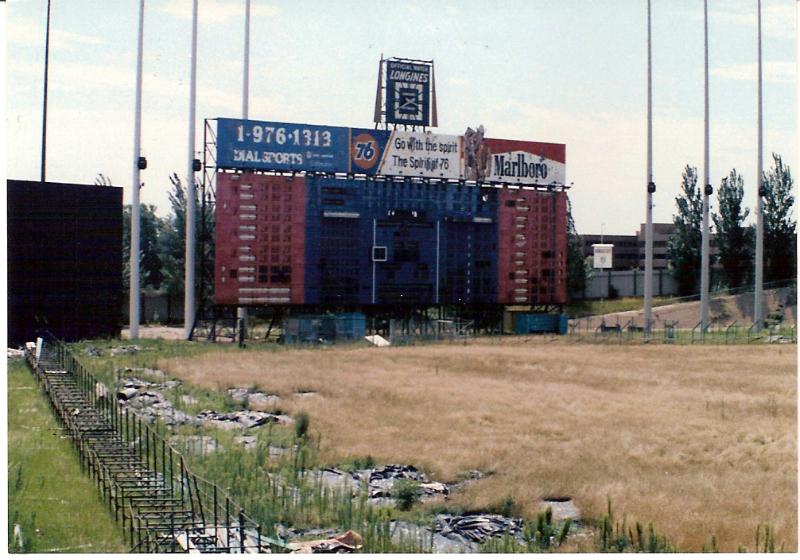 An abandoned Met stadium