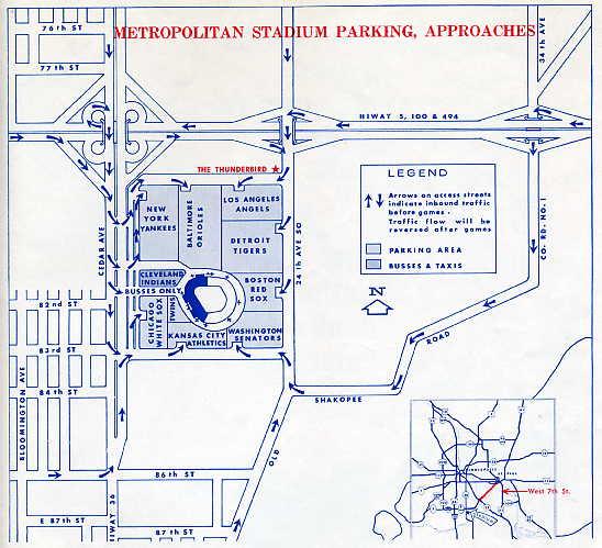 Met stadium site map