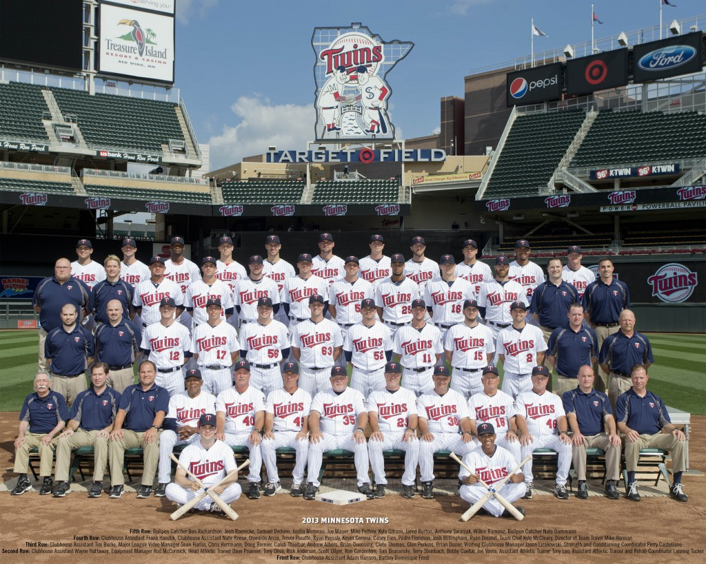 2013 Minnesota Twins Team Photo