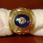1965 Frank Quilici AL Championship ring - top view