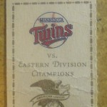 1991 Twins ALCS ticket. Click on the ticket to see the full image.