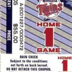 2006 Twins ALDS ticket. Click on  the ticket to see the full image.