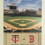 "2010 Twins ticket for opening day and the first ""real"" game at Target Field. Click on the ticket to see the full image."