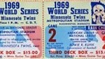 1969 Twins phantom World Series ticket