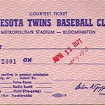 1971 Twins courtesy ticket