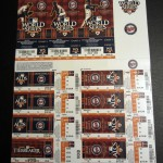 2010 Twins post seaason ticket sheet includes tie-breaker, ALDS, ALCS, and World Series tickets. Only ALDS games 1 and 2 were played so all the rest are Phantom tickets. Click on the tickets to see them in full size. Then click on them again to see them even bigger.