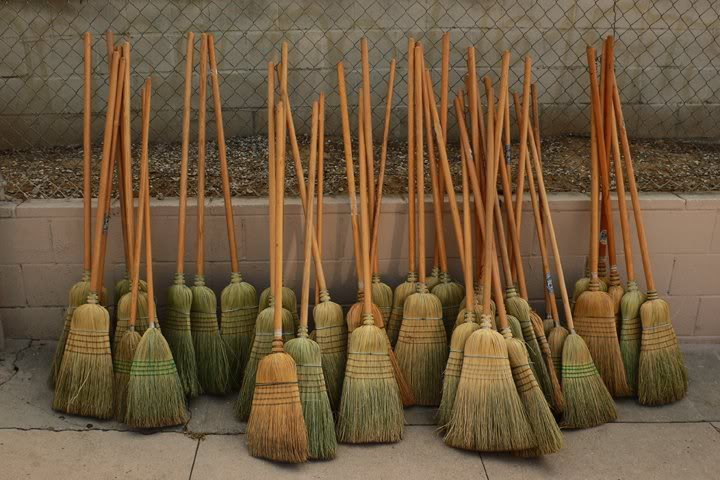 The brooms were at the ready behind the Twins dugout as the Twins took on the White Sox looking for a rare four-game sweep.