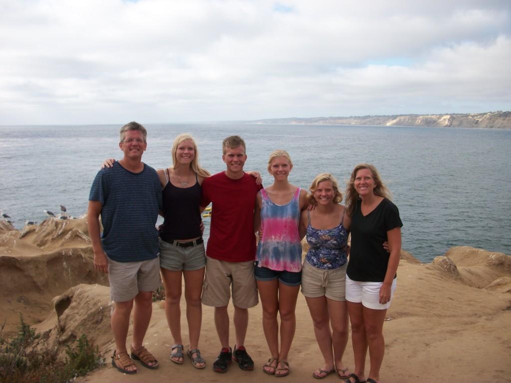 Left to right: Me (Treavor), Mackenzie, Trey, Mikayla, Kylie, and my wife, Becky