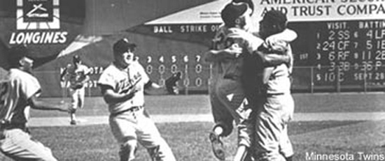 1965 Twins clinch pennat on September 26